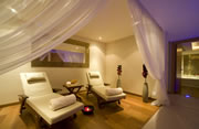 indoor spa and relax rooms